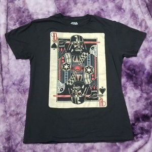 *star wars* Darth Vader playing card t-shirt